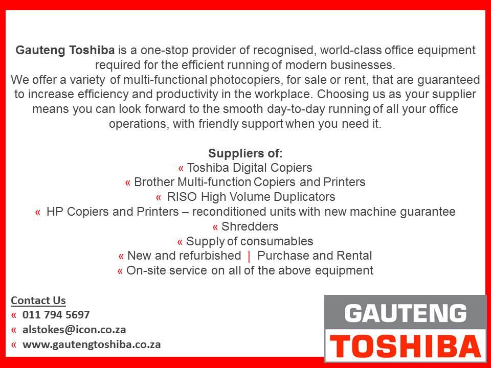 Gauteng Toshiba